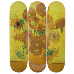 Skateboards Triptych Vincent van Gogh Sunflowers - The Skateroom