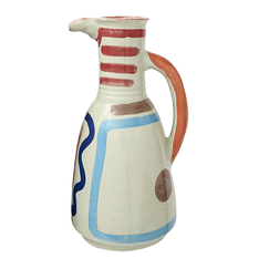 Long vase with handle