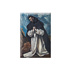 Magnet El Greco Saint Dominic in prayer