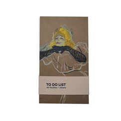 To do list - Toulouse-Lautrec - Yvette Guilbert