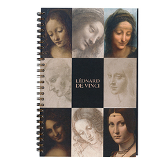 Spiral notebook with tracing paper inserts - Leonardo da Vinci