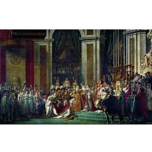 Affiche Le Sacre De Napoleon 1er Et Le Couronnement De L Imperatrice Josephine Boutiques De Musees