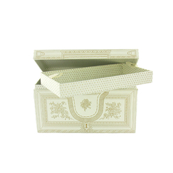 Jewellery box - White and gold