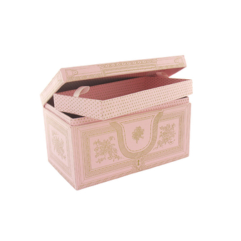Jewellery box - Pink and gold