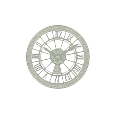 Orsay Museum Clock Magnet - Silver