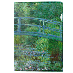 Claude Monet Clear File Water lily pond. Green harmony - A4
