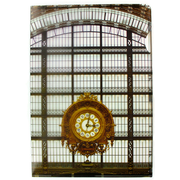 Clock and glass roof of the Musée d'Orsay Clear File - A4