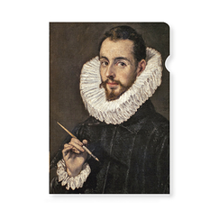 El Greco Clear File Portrait of Jorge Manuel - A4