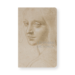 Notebook Women's head studies for the angel of the Virgin Mary of the Rocks - Leonardo da Vinci