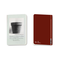 View of the flower pot Small notebook