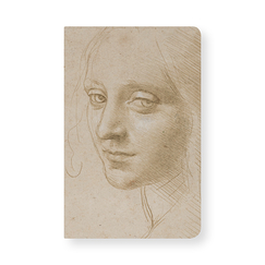 Notebook Leonardo da Vinci Woman's head study