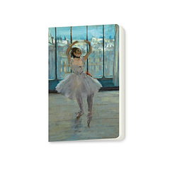 Small notebook Edgar Degas - Dancer posing at a photographer's house