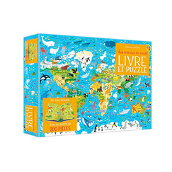 Book and puzzle box - Animals of the world