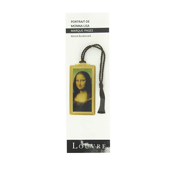 Metal bookmark Da Vinci - Mona Lisa