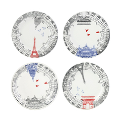 Assorted Dessert Plates- Set of 4 - Ça c'est Paris
