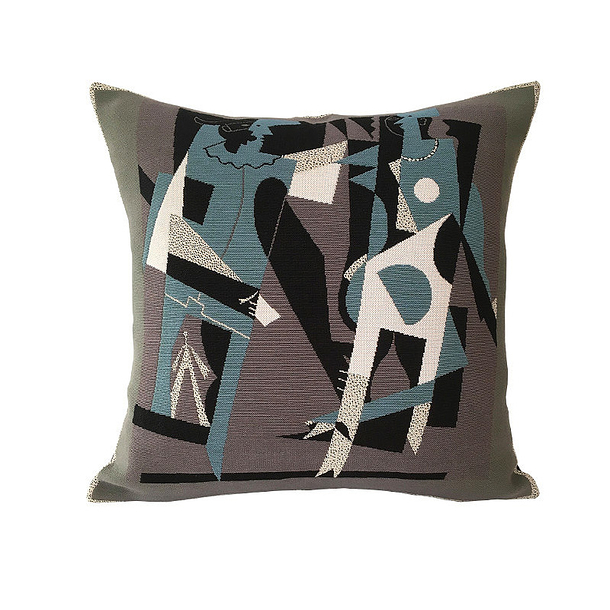 Picasso Cushion cover - Harlequin and woman with necklace - Pansu