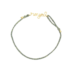 Bracelet with cord - Royal - Atelier Paulin