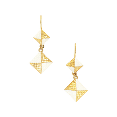Double Pyramid Earrings - Yolaine Giret