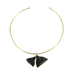 Collier jonc Gingko Noir - Augustine Paris