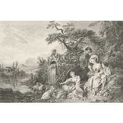 The Shepherd's Gifts or The Nest During Charming Country Life - Boucher