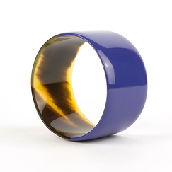 Broad indigo blue lacquered Bracelet - L'Indochineur