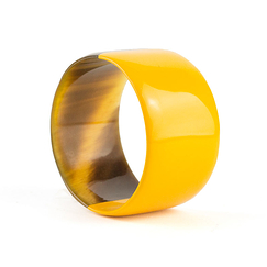 Broad yellow lacquered Bracelet - L'Indochineur
