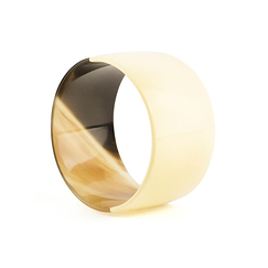 Broad ivory lacquered bracelet - L'Indochineur