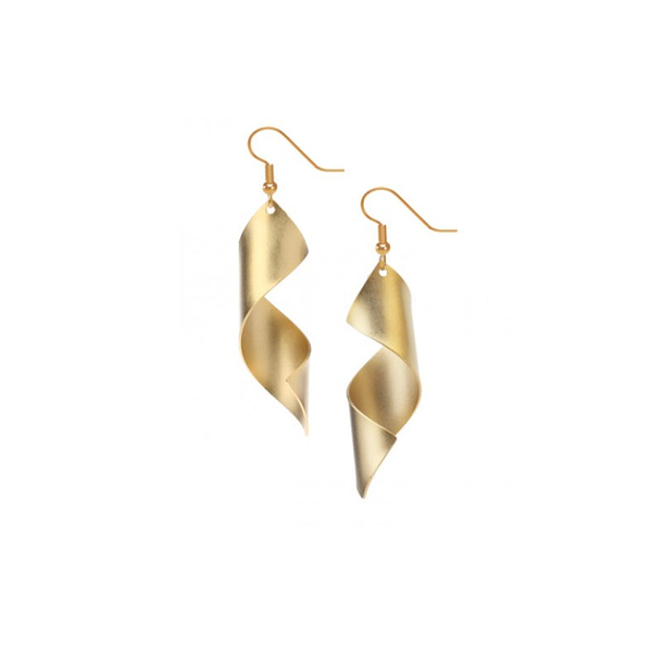 Earrings Man Ray Lampshade - Gold plated