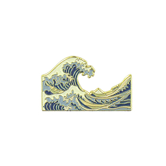 Hokusai The Great Wave Pin's