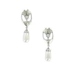 Gingko Earrings Art nouveau