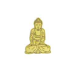 Teaching Buddha Pin's