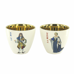 """A la Cour de Versailles"" Set of 2 Tumblers - The King-The Queen"