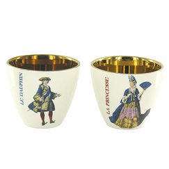 """A la Cour de Versailles"" Set of 2 Tumblers - The Dauphin-The Princess"