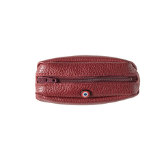 Purse Charles - Grained Leather Red - Larmorie