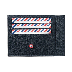 Card holder Paul - Grained cow leather Lune Bleue (Blue moon) - Larmorie