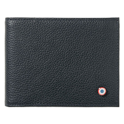 Wallet Arthur - Grained cow leather Italian Lune Bleue (Blue moon) - Larmorie
