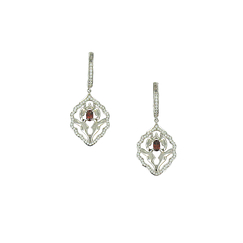 Iznik Garnet Earrings