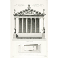 Restoration of the Temple of Marc-Aurèle in Rome