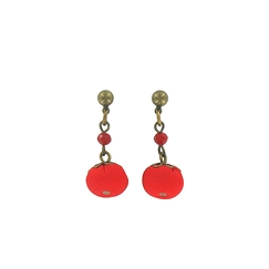Boucles d'oreilles April - Rouge
