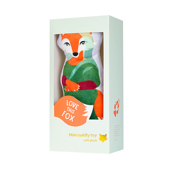 Mini Cuddly toy Mona Fox - Painted - Love this Fox