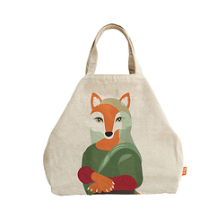 Tote Bag Mona Fox - Painted - Love this Fox