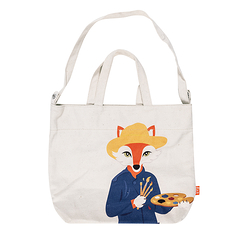 Totebag Vincent Fox - Painted - Love this Fox