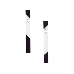 Lenny Earrings - Black and White