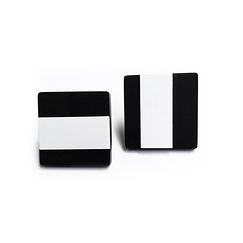 Todd Earrings - Black and White