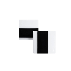Todd Earrings - White and black
