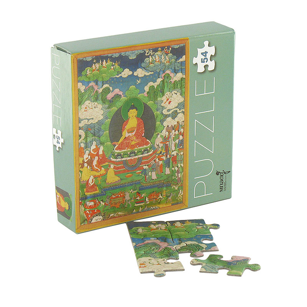 54 pieces Jigsaw puzzle Thangka of Shravasti's miracle