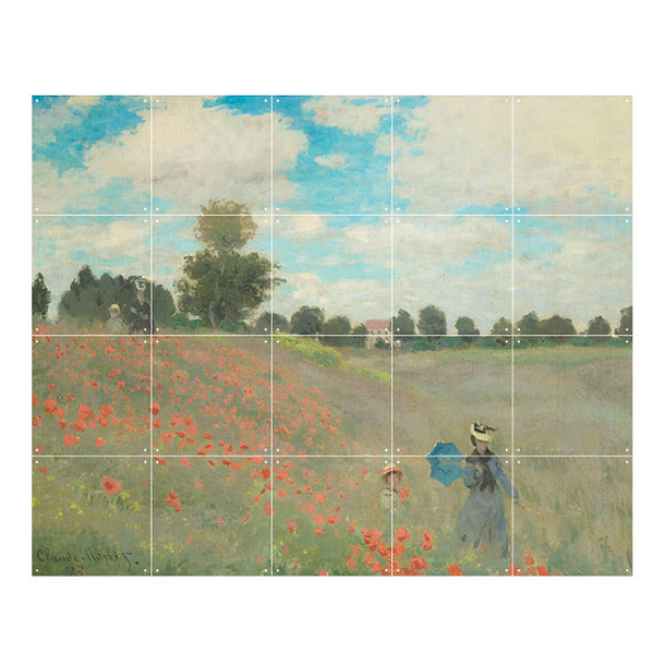 Wall decoration - Poppy field by Claude Monet - IXXI