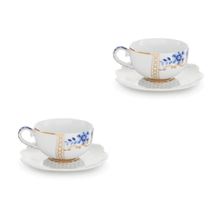 Set of 2 Espresso Cups & Saucers Royal White - Neotilus