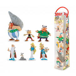 Tubo Astérix The Gallic village - 7 figurines