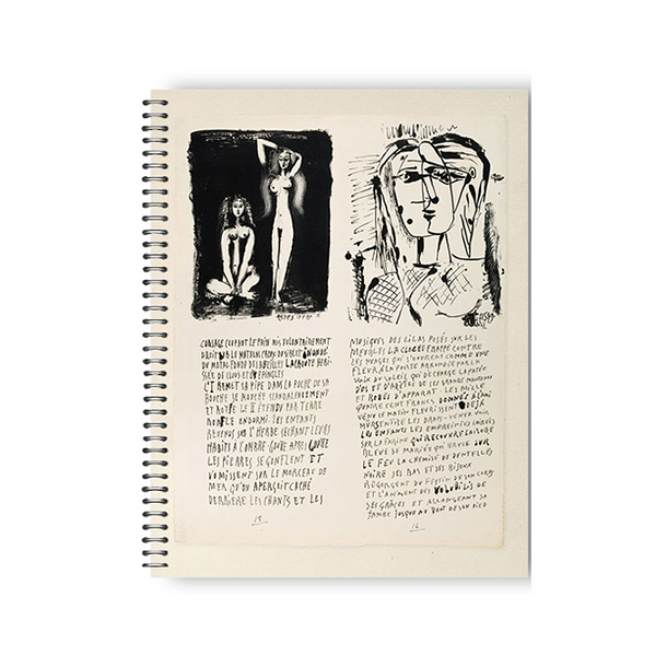 Pablo Picasso - Poems and lithographs Notebook with spirals